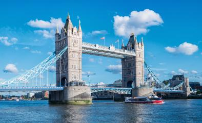 Tower Bridge with blue sky in London, UK- Stock Photo or Stock Video of rcfotostock | RC-Photo-Stock