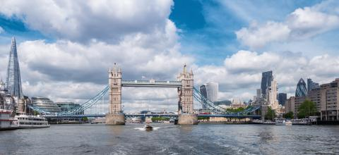 Tower Bridge with Business district and cityhall panoramic view in London, UK- Stock Photo or Stock Video of rcfotostock | RC-Photo-Stock