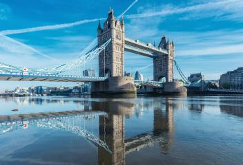 Tower Bridge with reflection at the morning in London, UK- Stock Photo or Stock Video of rcfotostock | RC-Photo-Stock