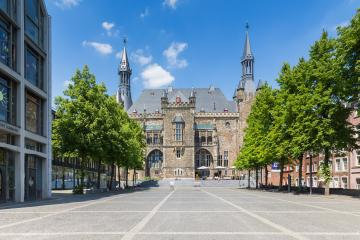 Town Hall Aachen at the Katschhof : Stock Photo or Stock Video Download rcfotostock photos, images and assets rcfotostock | RC-Photo-Stock.: