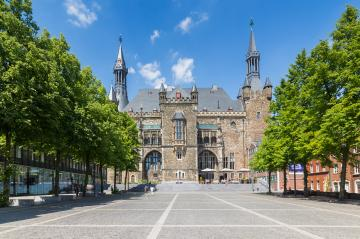 Town Hall Aachen in summer- Stock Photo or Stock Video of rcfotostock | RC-Photo-Stock