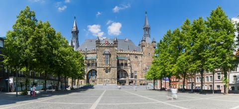 Town Hall Aachen panoram- Stock Photo or Stock Video of rcfotostock | RC-Photo-Stock