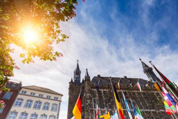 town hall of aachen city in germany- Stock Photo or Stock Video of rcfotostock   RC-Photo-Stock
