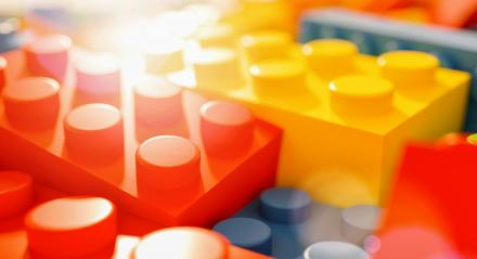 toy bricks against sunlight - concept image - 3D Rendering- Stock Photo or Stock Video of rcfotostock | RC-Photo-Stock