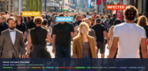 tracking crowd of people in a shopping street protect their health and social behavior for Covid-19 Coronavirus. Big data monitoring motion profile concept. : Stock Photo or Stock Video Download rcfotostock photos, images and assets rcfotostock | RC-Photo-Stock.: