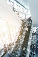 trade fair escalator with people in rush- Stock Photo or Stock Video of rcfotostock | RC-Photo-Stock