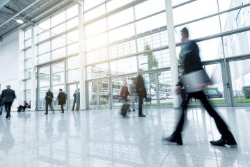 trade fair floor with Blurred business people- Stock Photo or Stock Video of rcfotostock | RC-Photo-Stock