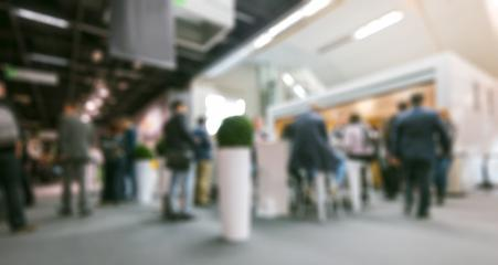 Trade fair generic background. Intentionally blurred post production. Humans not recognizable.- Stock Photo or Stock Video of rcfotostock | RC-Photo-Stock