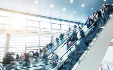 trade fair staircase with moving people- Stock Photo or Stock Video of rcfotostock | RC-Photo-Stock