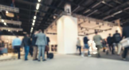 trade fair view, generic background, intentionally blurred post production.- Stock Photo or Stock Video of rcfotostock | RC-Photo-Stock