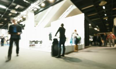 Trade fair visitors generic background. Intentionally blurred post production. Humans not recognizable.- Stock Photo or Stock Video of rcfotostock | RC-Photo-Stock