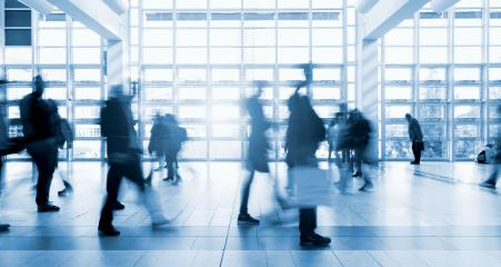 trade fair visitors walking Abstract motion blur- Stock Photo or Stock Video of rcfotostock | RC-Photo-Stock