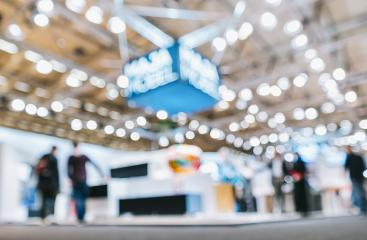 trade show booth, generic background with a blur effect applied- Stock Photo or Stock Video of rcfotostock | RC-Photo-Stock