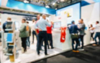 Trade show generic background, blue and intentional blurred post production : Stock Photo or Stock Video Download rcfotostock photos, images and assets rcfotostock | RC-Photo-Stock.: