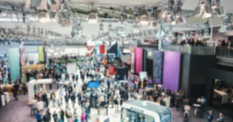Trade show generic background with an intentional blur effect applied- Stock Photo or Stock Video of rcfotostock | RC-Photo-Stock