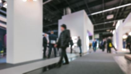 Trade show visitors generic background. Intentionally blurred post production. Humans not recognizable.- Stock Photo or Stock Video of rcfotostock | RC-Photo-Stock