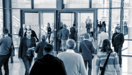 Tradeshow Visitors at a entrance- Stock Photo or Stock Video of rcfotostock | RC-Photo-Stock