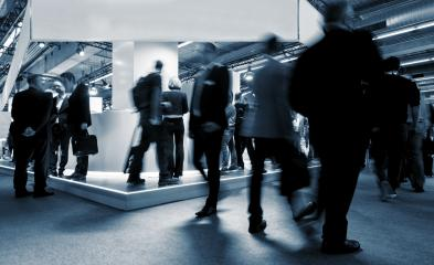 Tradeshow Visitors at Trade Fair Stands- Stock Photo or Stock Video of rcfotostock | RC-Photo-Stock