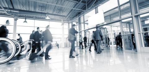 Tradeshow Visitors walking motion blur- Stock Photo or Stock Video of rcfotostock | RC-Photo-Stock