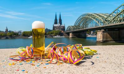 Tra­di­tio­nal beer (Kölsch) at carnival at cologne- Stock Photo or Stock Video of rcfotostock | RC-Photo-Stock