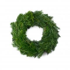 traditional green christmas wreath isolated on white background. festive decoration symbol- Stock Photo or Stock Video of rcfotostock | RC-Photo-Stock
