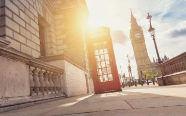 Traditional red british telephone box in London with Sunlight- Stock Photo or Stock Video of rcfotostock | RC-Photo-Stock