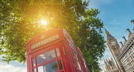 Traditional red british telephone box with Big Ben at summer in London- Stock Photo or Stock Video of rcfotostock | RC-Photo-Stock