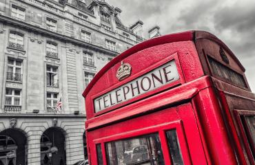 Traditional Red Telephone Box in London UK- Stock Photo or Stock Video of rcfotostock | RC-Photo-Stock