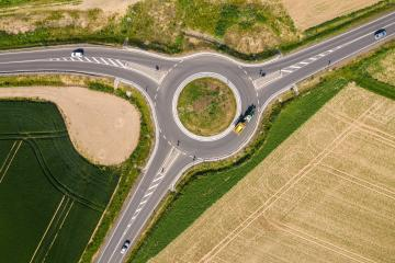 Traffic circle, roundabout - aerial view- Stock Photo or Stock Video of rcfotostock | RC-Photo-Stock