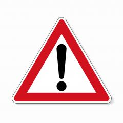 traffic sign attention. German traffic sign of danger or Danger zone on white background. Vector illustration. Eps 10 vector file.- Stock Photo or Stock Video of rcfotostock | RC-Photo-Stock