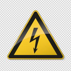 traffic sign attention. German traffic sign of danger or Danger zone on checked transparent background. Vector illustration. Eps 10 vector file. : Stock Photo or Stock Video Download rcfotostock photos, images and assets rcfotostock | RC-Photo-Stock.: