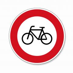 traffic sign ban for bicycles. German traffic sign prohibiting thoroughfare of bicyles on white background. Vector illustration. Eps 10 vector file.- Stock Photo or Stock Video of rcfotostock | RC-Photo-Stock