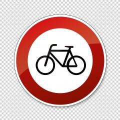traffic sign ban for bicycles. German traffic sign prohibiting thoroughfare of bicyles on checked transparent background. Vector illustration. Eps 10 vector file. : Stock Photo or Stock Video Download rcfotostock photos, images and assets rcfotostock | RC-Photo-Stock.: