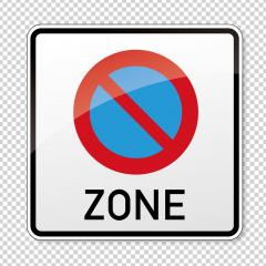 traffic sign bicycle area. German sign at a bicycle zone on checked transparent background. Vector illustration. Eps 10 vector file.- Stock Photo or Stock Video of rcfotostock | RC-Photo-Stock