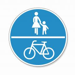 traffic sign bicycle pedestrian area. German traffic sign on a shared-use path on white background. Vector illustration. Eps 10 vector file.- Stock Photo or Stock Video of rcfotostock | RC-Photo-Stock