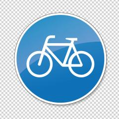 traffic sign bike path. German sign for bicycle lane on checked transparent background. Vector illustration. Eps 10 vector file.- Stock Photo or Stock Video of rcfotostock | RC-Photo-Stock
