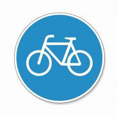 traffic sign bike path. German sign for bicycle lane on white background. Vector illustration. Eps 10 vector file.- Stock Photo or Stock Video of rcfotostock | RC-Photo-Stock