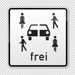 traffic sign carsharing vehicles. German sign for Priority parking for carsharing vehicles on checked transparent background. Vector illustration. Eps 10 vector file.- Stock Photo or Stock Video of rcfotostock | RC-Photo-Stock
