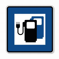 traffic sign Charging station point. German sign Electric vehicle recharging point Ecology friendly electric car charging on white background. Vector illustration. Eps 10 vector file.- Stock Photo or Stock Video of rcfotostock | RC-Photo-Stock