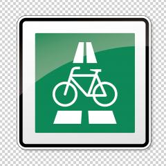 traffic sign Cycle expressway. German sign for express bicycles on this way on checked transparent background. Vector illustration. Eps 10 vector file.- Stock Photo or Stock Video of rcfotostock | RC-Photo-Stock