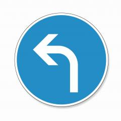 traffic sign direction of travel. German traffic sign: Go left on white background. Vector illustration. Eps 10 vector file. - Stock Photo or Stock Video of rcfotostock | RC-Photo-Stock