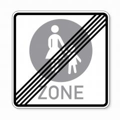 traffic sign end pedestrian area. German sign at the end of a pedestrian zone depicting mother and child on white background. Vector illustration. Eps 10 vector file.- Stock Photo or Stock Video of rcfotostock | RC-Photo-Stock