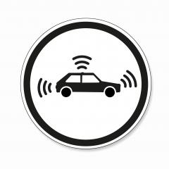 traffic sign for autonomous vehicles. German traffic sign Warning or Caution, Autonomous vehicle crossing on white background. Vector illustration. Eps 10. : Stock Photo or Stock Video Download rcfotostock photos, images and assets rcfotostock | RC-Photo-Stock.: