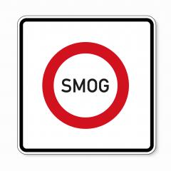 traffic sign forbidden entrance area smog concentration. German traffic sign: smog area on white background. Vector illustration. Eps 10 vector file. : Stock Photo or Stock Video Download rcfotostock photos, images and assets rcfotostock | RC-Photo-Stock.: