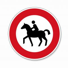 traffic sign forbidden entrance horse. German traffic sign prohibiting thoroughfare of equestrians. Vector illustration. Eps 10 vector file.- Stock Photo or Stock Video of rcfotostock | RC-Photo-Stock