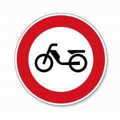 traffic sign forbidden entrance moped. German traffic sign (prohibition of traffic) prohibiting thoroughfare of mopeds on white background. Vector illustration. Eps 10 vector file. : Stock Photo or Stock Video Download rcfotostock photos, images and assets rcfotostock | RC-Photo-Stock.: