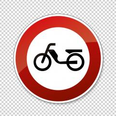traffic sign forbidden entrance moped. German traffic sign (prohibition of traffic) prohibiting thoroughfare of mopeds on checked transparent background. Vector illustration. Eps 10 vector file. : Stock Photo or Stock Video Download rcfotostock photos, images and assets rcfotostock | RC-Photo-Stock.: