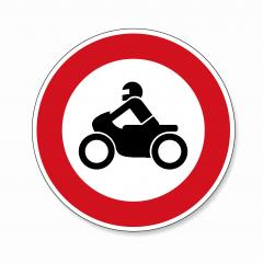 traffic sign forbidden entrance motorcycle. German traffic sign prohibiting thoroughfare of motorcycles. Vector illustration. Eps 10 vector file.- Stock Photo or Stock Video of rcfotostock | RC-Photo-Stock