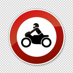 traffic sign forbidden entrance motorcycle. German traffic sign prohibiting thoroughfare of motorcycles. Vector illustration. Eps 10 vector file. : Stock Photo or Stock Video Download rcfotostock photos, images and assets rcfotostock | RC-Photo-Stock.: