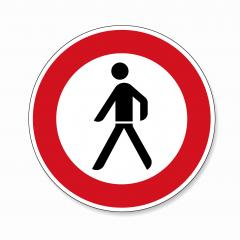 traffic sign forbidden entrance pedestrian. German sign warning about Ban for pedestrians on white background. Vector illustration. Eps 10 vector file. : Stock Photo or Stock Video Download rcfotostock photos, images and assets rcfotostock | RC-Photo-Stock.: